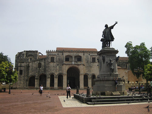 Parque Colon en Santo Domingo