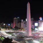 El imponente Obelisco de Buenos Aires