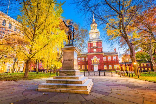 Independence Hall en Filadelfia