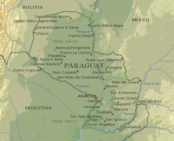 Ciudades de Paraguay, geografía política