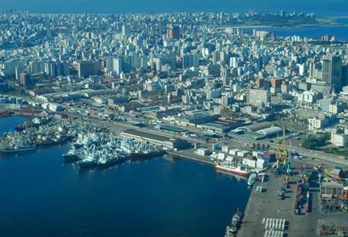 Vista aerea de Montevideo