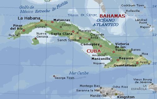Mapa geográfico de Cuba