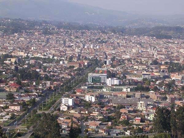Vista de Cuenca en Ecuador