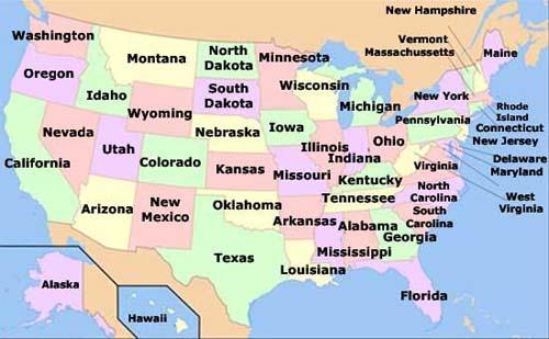 Mapa de EEUU
