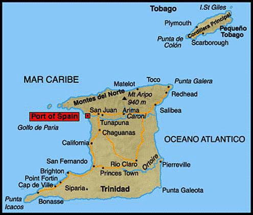 Mapa de Trinidad y Tobago | Metro Map | Bus Routes | Metrobus Way ...