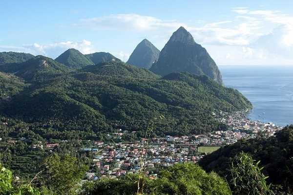 Santa Lucía, en el Caribe